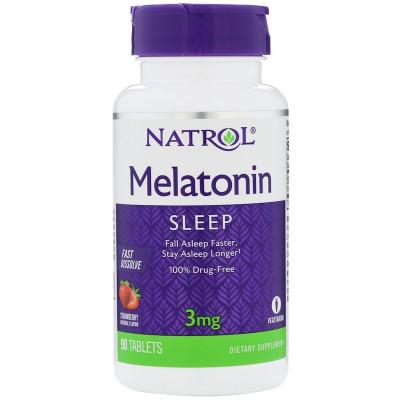 Natrol Melatonin 3 mg Fast Dissolve (90 табл)