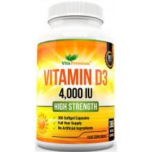 Vita Premium, Vitamin D3, 4000 IU, (365 капс)